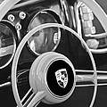 1954 Porsche 356 Bent-window Coupe Steering Wheel Emblem by Jill Reger