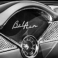 1955 Chevrolet Belair Dashboard Emblem Clock by Jill Reger