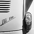 1956 Fiat 600 Taillight Emblem by Jill Reger