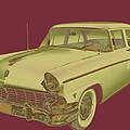 1956 Ford Custom Line Antique Car Pop Art by Keith Webber Jr
