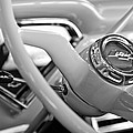 1957 Chevrolet Cameo Pickup Truck Steering Wheel Emblem by Jill Reger
