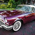 1957 Ford Thunderbird Convertible Painted    by Rich Franco