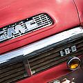 1957 Gmc V8 Pickup Truck Grille Emblem by Jill Reger