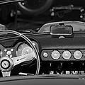 1958 Ferrari 250 Gt Lwb California Spider Steering Wheel Emblem -  Dashboard by Jill Reger