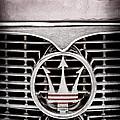 1958 Maserati Hood - Grille Emblem by Jill Reger