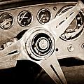 1960 Maserati Steering Wheel Emblem by Jill Reger