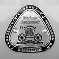 1960 Porsche 356 B 1600 Super Roadster Emblem by Jill Reger
