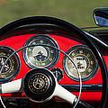 1961 Alfa-romeo Giulietta Spider Steering Wheel Emblem by Jill Reger