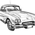 1962 Chevrolet Corvette Illustration by Keith Webber Jr
