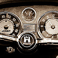 1966 Volkswagen Vw Karmann Ghia Steering Wheel by Jill Reger
