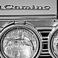 1967 Chevrolet El Camino Pickup Truck Headlight Emblem by Jill Reger