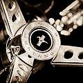 1969 Ford Mustang Mach 1 Steering Wheel by Jill Reger