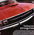 1970 Dodge Challenger R/t  by Digital Repro Depot