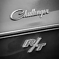 1970 Dodge Challenger Rt Convertible Emblem by Jill Reger