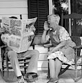 1970s Elderly Couple In Rocking Chairs by Vintage Images