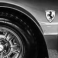 1971 Ferrari Dino Gt Wheel Emblem -027c by Jill Reger