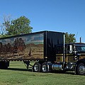 Smokey And The Bandit Tribute 1973 Kenworth W900 Black And Gold Semi Truck by Tim McCullough