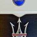 2005 Maserati Mc12 Hood Emblem by Jill Reger