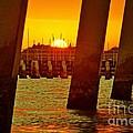 2013 First Sunset Under North Bridge 3 by Lynda Dawson-Youngclaus