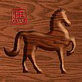 2014 Chinese Wood Zodiac Horse Illustration by Jit Lim