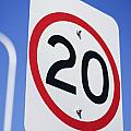 20km Road Sign by Jorgo Photography - Wall Art Gallery