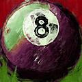8 Ball Billiards Abstract by David G Paul