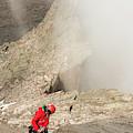 A Climber Descending Longs Peak by Kennan Harvey