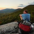 A Man Hikes Along The Appalachian Trail by Josh Campbell