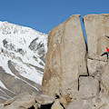 A Man Sport Climbs In Bishop by Corey Rich