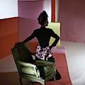 A Model Wearing A Schiaparelli Dress by Horst P. Horst