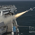 A Rim-7 Sea Sparrow Missile Is Launched by Stocktrek Images