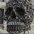 A Skull Sculpture Made Of Cans And Metal Along The Grand Canal by Jason O Watson