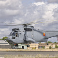 A Spanish Navy Sh-3d Helicopter by Giovanni Colla