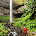 A Woman Admires Latourel Falls On June by Tom Bol