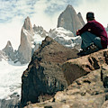 A Young Woman Gazes At Cerro Fitzroy by Kari Medig