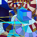 Abstract Art Stained Glass by Mountain Dreams