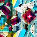 Abstract Geometric Pattern Background by Kirsten Hinte