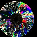 Abstract Rainbow Droplets On Cd by Radu Nedelcu