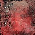 Abstract Red Digital Print by Andrada Anghel