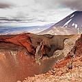 Active Volcanoe Cone Of Mt Ngauruhoe New Zealand by Stephan Pietzko