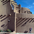 Adobe Architecture In Santa Fe by Carl Purcell