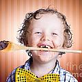 Adorable Little Boy Cooking Chocolate Easter Cake by Jorgo Photography - Wall Art Gallery