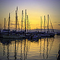 Aegina Harbour Sunset by Paul Cowan