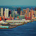 Aerial Morning View Of Boston Skyline by Panoramic Images