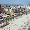 Aerial Of Downtown Atlantic City by Bill Cobb