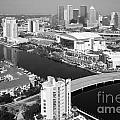 Aerial Of Downtown Tampa And Harbour Island by Bill Cobb