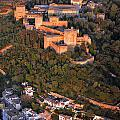 Aerial Photo  Alhambra And Albaycin In Granada by Guido Montanes Castillo