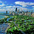 Aerial View Of Chicago, Illinois by Panoramic Images