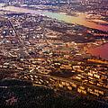 Aerial View Of Riga. Latvia. Rainbow Earth by Jenny Rainbow
