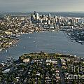 Aerial View Of Seattle by Jim Corwin